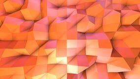 Αφηρημένη απλή ρόδινη πορτοκαλιά χαμηλή πολυ τρισδιάστατη επιφάνεια ως δημοφιλές περιβάλλον Μαλακό γεωμετρικό χαμηλό πολυ υπόβαθρ ελεύθερη απεικόνιση δικαιώματος
