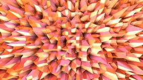 Αφηρημένη απλή ρόδινη πορτοκαλιά χαμηλή πολυ τρισδιάστατη επιφάνεια ως χημικό περιβάλλον Μαλακό γεωμετρικό χαμηλό πολυ υπόβαθρο κ ελεύθερη απεικόνιση δικαιώματος