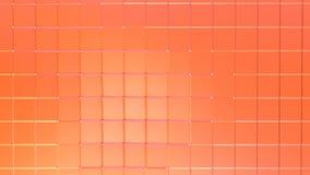 Αφηρημένη απλή ρόδινη πορτοκαλιά χαμηλή πολυ τρισδιάστατη επιφάνεια ως περιβάλλον φαντασίας Μαλακό γεωμετρικό χαμηλό πολυ υπόβαθρ ελεύθερη απεικόνιση δικαιώματος
