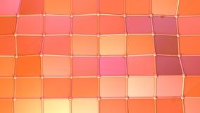 Αφηρημένη απλή ρόδινη πορτοκαλιά χαμηλή πολυ τρισδιάστατη επιφάνεια ως κομψό περιβάλλον Μαλακό γεωμετρικό χαμηλό πολυ υπόβαθρο κι διανυσματική απεικόνιση