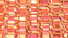 Αφηρημένη απλή ρόδινη πορτοκαλιά χαμηλή πολυ τρισδιάστατη επιφάνεια ως διακοσμητικό περιβάλλον Μαλακό γεωμετρικό χαμηλό πολυ υπόβ ελεύθερη απεικόνιση δικαιώματος