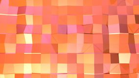 Αφηρημένη απλή ρόδινη πορτοκαλιά χαμηλή πολυ τρισδιάστατη επιφάνεια ως περιβάλλον μόδας Μαλακό γεωμετρικό χαμηλό πολυ υπόβαθρο κι ελεύθερη απεικόνιση δικαιώματος