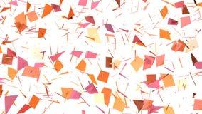 Αφηρημένη απλή ρόδινη πορτοκαλιά χαμηλή πολυ τρισδιάστατη διασπασμένη επιφάνεια ως περιβάλλον πολυτέλειας Μαλακό γεωμετρικό χαμηλ διανυσματική απεικόνιση