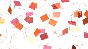 Αφηρημένη απλή ρόδινη πορτοκαλιά χαμηλή πολυ τρισδιάστατη διασπασμένη επιφάνεια ως περιβάλλον poligonal Μαλακή γεωμετρική χαμηλή  απεικόνιση αποθεμάτων