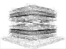 Αφηρημένη απομονωμένη δομή απεικόνιση κατασκευής στο άσπρο διάνυσμα υποβάθρου στοκ φωτογραφία με δικαίωμα ελεύθερης χρήσης
