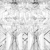 Αφηρημένη απομονωμένη δομή απεικόνιση κατασκευής στο άσπρο διάνυσμα υποβάθρου στοκ εικόνες