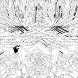 Αφηρημένη απομονωμένη δομή απεικόνιση κατασκευής στο άσπρο διάνυσμα υποβάθρου στοκ φωτογραφίες