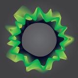 Αφηρημένη απλή γραμμή υποβάθρου, κιτρινοπράσινη - διανυσματική απεικόνιση Στοκ Φωτογραφία