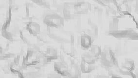 Αφηρημένη απλή γραπτή χαμηλή πολυ τρισδιάστατη επιφάνεια κυματισμού ως υπόβαθρο μόδας Γκρίζο γεωμετρικό δομένος περιβάλλον απεικόνιση αποθεμάτων