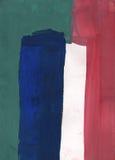 Αφηρημένη απλή πρωτόγονη γκουας ζωγραφικής - μπλε, πράσινος, άσπρος Στοκ φωτογραφία με δικαίωμα ελεύθερης χρήσης