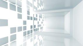 Αφηρημένη αρχιτεκτονική. Κενό άσπρο σύγχρονο εσωτερικό απεικόνιση αποθεμάτων