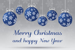 Αφηρημένη ασημένια και μπλε απεικόνιση Χριστουγέννων Στοκ εικόνα με δικαίωμα ελεύθερης χρήσης