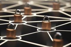 Αφηρημένη ασφαλής έννοια δικτύων Στοκ Φωτογραφίες