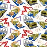 Αφηρημένη αυτοκινητική παραγωγή σχεδίων constructionism άνευ ραφής Στοκ φωτογραφία με δικαίωμα ελεύθερης χρήσης