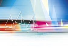 αφηρημένη βάρκα διανυσματική απεικόνιση