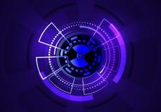 αφηρημένη βαθιά τεχνολογία χρώματος ανασκόπησης μπλε απεικόνιση αποθεμάτων