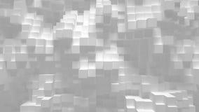 Αφηρημένη γεωμετρική τρισδιάστατη ζωτικότητα υποβάθρου βρόχων κύβων διανυσματική απεικόνιση
