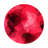 Αφηρημένη γεωμετρική polygonal κόκκινη σφαίρα. απεικόνιση αποθεμάτων