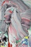Αφηρημένη γκρίζα ακρυλική ζωγραφική Στοκ Εικόνα