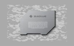 Αφηρημένη γκρίζα φουτουριστική μαλακή ευπρόσδεκτη οθόνη Πιάτο τεχνολογίας μετάλλων στο χαοτικό υπόβαθρο σχεδίου Στοκ εικόνα με δικαίωμα ελεύθερης χρήσης