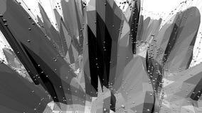 Αφηρημένη γραπτή χαμηλή πολυ επιφάνεια κυματισμού ως δημοφιλές περιβάλλον Γκρίζο αφηρημένο γεωμετρικό δομένος περιβάλλον διανυσματική απεικόνιση
