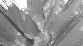 Αφηρημένη γραπτή χαμηλή πολυ επιφάνεια κυματισμού ως περιβάλλον τέχνης αφηρημένο γκρι ανασκόπηση&sig ελεύθερη απεικόνιση δικαιώματος