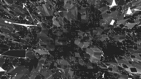 Αφηρημένη γραπτή χαμηλή πολυ επιφάνεια κυματισμού ως τοπίο Γκρίζο αφηρημένο γεωμετρικό δομένος περιβάλλον ή απεικόνιση αποθεμάτων