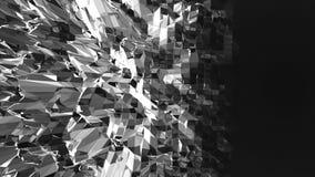 Αφηρημένη γραπτή χαμηλή πολυ τρισδιάστατη επιφάνεια κυματισμού ως αφηρημένο περιβάλλον Γκρίζα αφηρημένη γεωμετρική δόνηση απεικόνιση αποθεμάτων