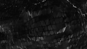 Αφηρημένη γραπτή χαμηλή πολυ τρισδιάστατη επιφάνεια κυματισμού όπως περιβάλλον Γκρίζα αφηρημένη γεωμετρική δόνηση απεικόνιση αποθεμάτων