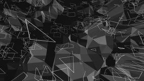 Αφηρημένη γραπτή χαμηλή πολυ επιφάνεια κυματισμού ως cyber υπόβαθρο Γκρίζο αφηρημένο γεωμετρικό δομένος περιβάλλον ή διανυσματική απεικόνιση