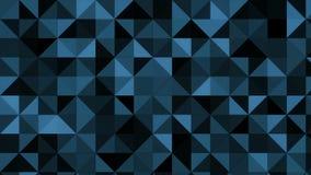 Αφηρημένη γραφική παράσταση κινήσεων με τα λαμπιρίζοντας μπλε τρίγωνα 4K απόθεμα βίντεο