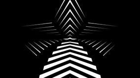 Αφηρημένη γραφική παράσταση κινήσεων της CGI και ζωντανεψοντα υπόβαθρο με τα άσπρα και μαύρα αστέρια ελεύθερη απεικόνιση δικαιώματος