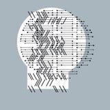 Αφηρημένη γραφική τέχνη, διανυσματική γεωμετρική απεικόνιση Στοκ Φωτογραφίες