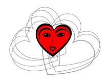 αφηρημένη γυναίκα καρδιών s π& απεικόνιση αποθεμάτων