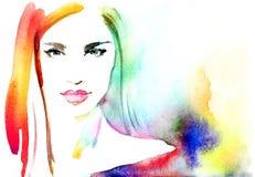 αφηρημένη γυναίκα πορτρέτο&u background computer fashion imitation screen Στοκ Φωτογραφίες