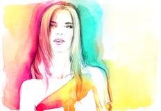 αφηρημένη γυναίκα πορτρέτο&u background computer fashion imitation screen Στοκ εικόνα με δικαίωμα ελεύθερης χρήσης