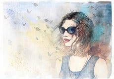αφηρημένη γυναίκα πορτρέτο&u background computer fashion imitation screen Στοκ φωτογραφία με δικαίωμα ελεύθερης χρήσης