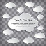 Αφηρημένη δημιουργική συλλογή σύννεφων έννοιας διανυσματική στο chequere Στοκ εικόνα με δικαίωμα ελεύθερης χρήσης