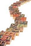 αφηρημένη διάβαση αλφάβητο&u Στοκ φωτογραφία με δικαίωμα ελεύθερης χρήσης