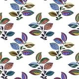 Αφηρημένη διακόσμηση r Σχέδιο Watercolor των φύλλων των διαφορετικών χρωμάτων Φύλλα και κλάδοι για το σχέδιο διανυσματική απεικόνιση