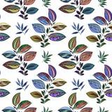 E r Σχέδιο Watercolor των φύλλων των διαφορετικών χρωμάτων Φύλλα και κλάδοι για το σχέδιο απεικόνιση αποθεμάτων