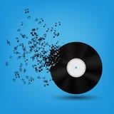 Αφηρημένη διανυσματική απεικόνιση ανασκόπησης μουσικής για ελεύθερη απεικόνιση δικαιώματος