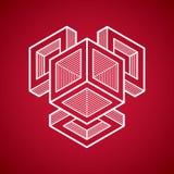 Αφηρημένη διανυσματική γεωμετρική μορφή, τρισδιάστατη δημιουργική μορφή Στοκ φωτογραφία με δικαίωμα ελεύθερης χρήσης