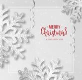 Αφηρημένη διανυσματική ευχετήρια κάρτα Χριστουγέννων απεικόνιση αποθεμάτων