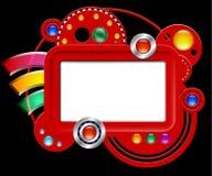 Αφηρημένη διαπροσωπεία με την οθόνη και τα κουμπιά ελεύθερη απεικόνιση δικαιώματος