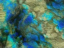 Αφηρημένη δονούμενη πράσινη μπλε σύσταση, υπόβαθρο Στοκ Εικόνα