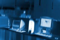 Αφηρημένη εικόνα ενός δωματίου hitec στην τεχνολογία υπολογιστών Στοκ φωτογραφίες με δικαίωμα ελεύθερης χρήσης