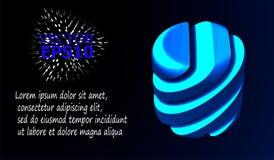 Αφηρημένη εικόνα μιας γεωμετρικής μορφής περικοπών επίσης corel σύρετε το διάνυσμα απεικόνισης Στοκ Εικόνες