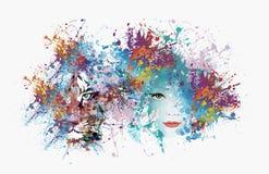 Αφηρημένη εικόνα τέχνης με την τίγρη Στοκ εικόνα με δικαίωμα ελεύθερης χρήσης