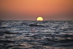Αφηρημένη εικόνα του ηλιοβασιλέματος στη θάλασσα bay bridge ca francisco night san time Στοκ Εικόνες